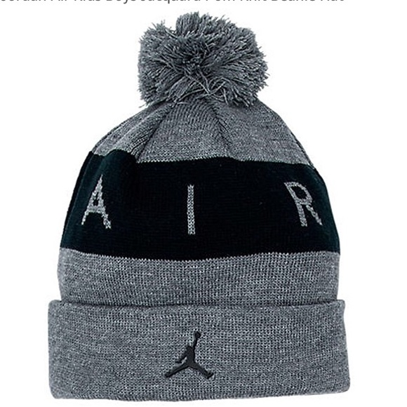99a0ad326f9 Jordan air Kids boys jacquard Pom knit beanie hat